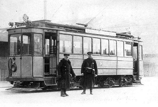 tram münchen FMTM C 1.6-Triebwagen 473 im Winter 1925/26 Leonrodplatz