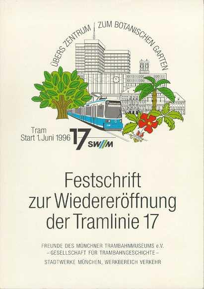 Trambahn-Schriftreihe #9: Wiedereröffnung Linie 17