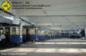 Ausstellung der Museumswagen im Betriebshof 2 im Jahr 1995 tram münchen fmtm