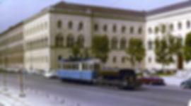 ludwigstrDer Wagen 2871 / 3921 wurde ab 1960 zum Unkrautvertilgungswagen umgebaut tram münchen universität
