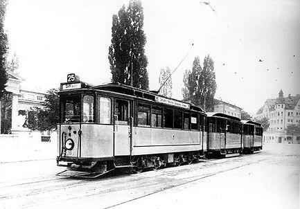 E-Tw 609 am St.-Martins-Platz 1926 tram münchen