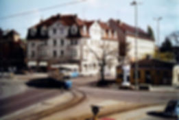 M4-Tw 2487 + m4-Bw 3478 am Romanplatz Mai 1983 tram münchen