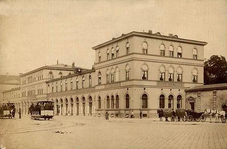 1885 Odeonsplatz Pferdetrambahn Stadtarc