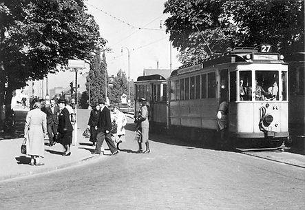 D1-Tw 503 in der Ohlmüllerstraße auswärts 1943 münchen tram