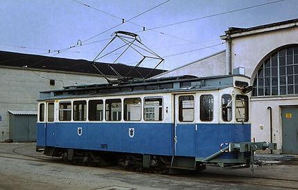 Der Bahnhofswagen G 1.8 Nr. 2975 München Tram trambahn FMTM Pufferwagen