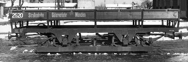 Transportwagen/Niederbord  Typ: q 9.26 Betriebsnummer 2520 münchen tram