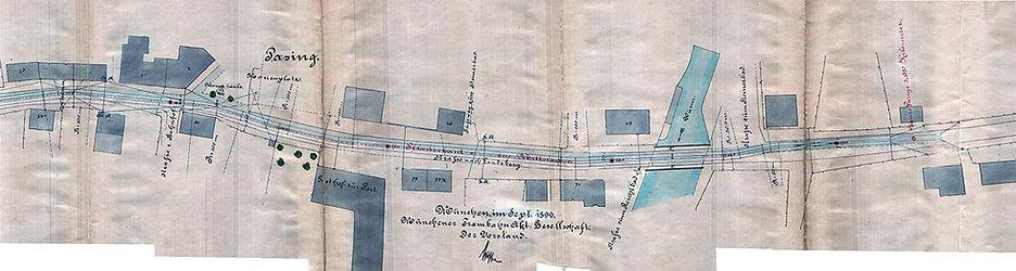 1899-09 Pasing Planung Trambahn Endestat