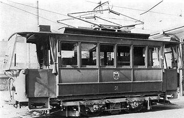 Schienenschleifwagen  Typ: R 1.22 Betriebsnummer: 31 tram München
