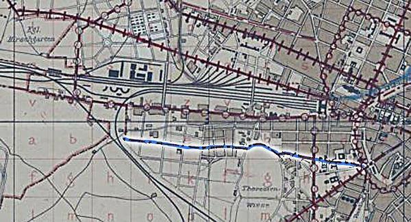 1895 Planung Trambahn Eisenbahn Gollier.