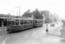 M4-Tw 945 + m4-Bw in der Boschetsrieder Straße einwärts 5.8.1965 münchen tram