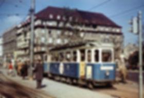 F-Tw 652 + e-Bw am Sendlingertorplatz Richtung Isartalbahnhof März 1958 tram münchen