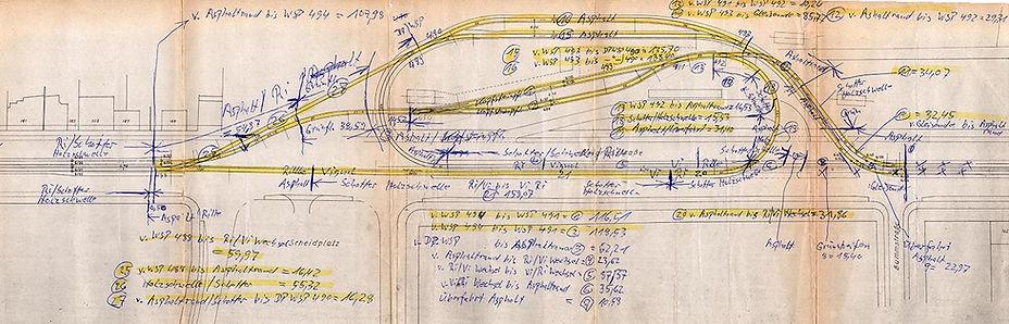 Streckenplan 06 Scheidplatz 10-05-1985 m