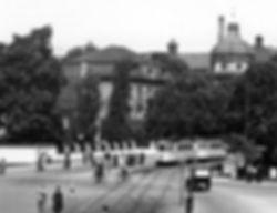 E-Tw + e-Bw am Rotkreuzplatz einwärts 7.6.1935 tram münchen