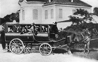 Groschenwagen von Zechmeister, um 1869. Archiv MVG münchen tram trambahn geschichte kutsche