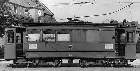 Werkstattwagen  Typ: W 7.1 Betriebsnummer: 110 Letzte Betriebsnummer: 64 münchen tram