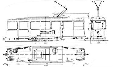 tram münchen skitte bauszeichnung SALZSTREUWAGEN TYP SA 2.30 2930