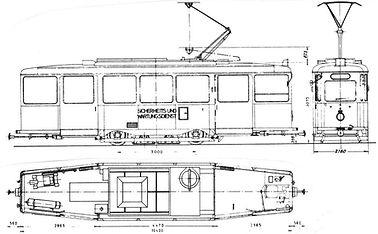 tram München Salzwagen  Typ: SA 2.30  2930/2931 Bauzeichnung