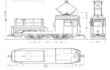 TURMWAGEN TYP Tu 1.8 2946 skizze zeichnung blueprint münchen tram