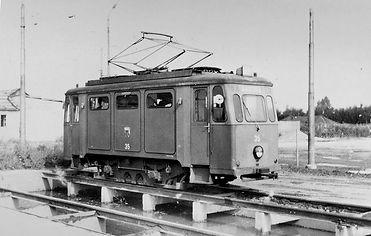 Schienenschleifwagen 35 auf der Entschlackungs-Grube münchen ram tramabhn