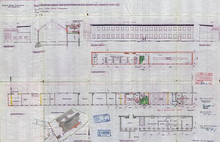 Das Jahr 1950 brachte noch eine letzte Erweiterung der Sozialräume durch Aufstockung und Neuaufteilung Tram Trambahn München
