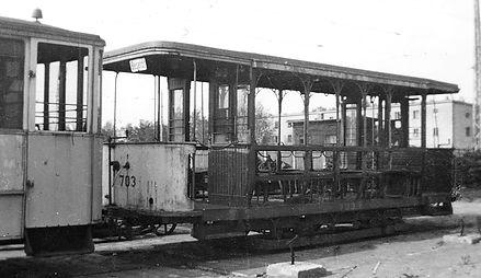 Stettiner Sommerwagen 703 Typ y1-1 beider Ankunft in München Trambahn tram FMTM