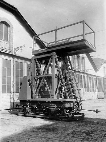 Turmwage Nummer 2 im Betriebshof München Tram schäftlarntrasse