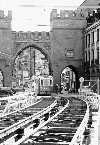 Baustelle Stachus Karlsplatz 1966 bis 1968