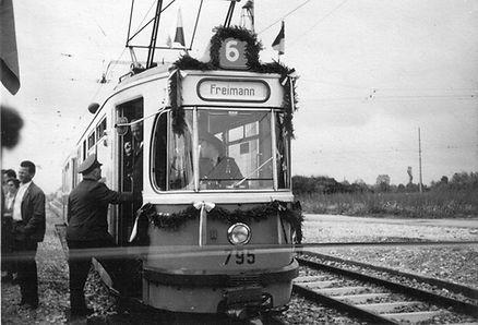 16.6.1962 Eröffnung Verlängerung Linie 6 M3-Tw 795 münchen tram
