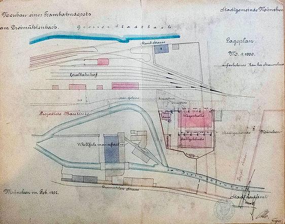 1892-03-10_Neubau_Depot_Dreimühlenbach-2