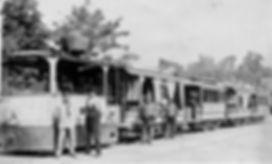 Dampftrambahn München am Volksgarten tram trambahn