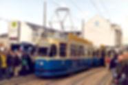 Eröffnung der Ost-Tangente am 8.11.1997. münchen tram