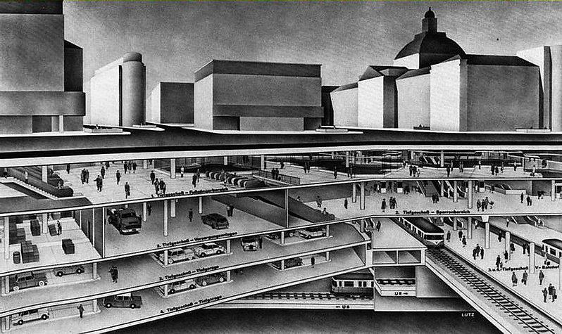 Stachus Planung 1966 Karlsplatz