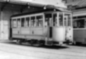 Geschlossener Beiwagen für elektr. Betrieb  Typ: c 3.27 Nr. 1104 münchen tram