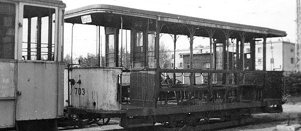 1943 wurden die Stettiner Sommerbeiwagen 701 - 703 als Aushilfe für kriegszerstörte Wagen nach München geliefert tram trambahn fmtm münchen