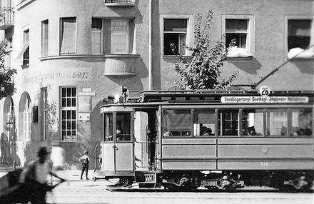 C 2.4-Tw 516 in der Implerstraße 1916 tram münchen