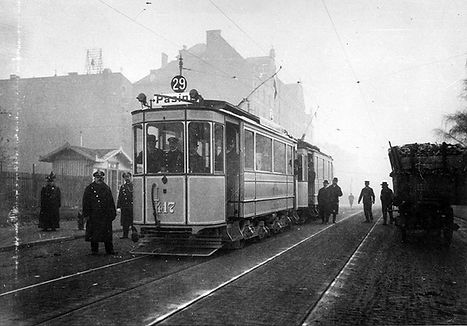 B-Tw 417 an der Barthstraße auswärts 16.12.1908 münchen tram