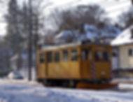 Fahrdrahtkontrollwagen  Typ: Ka 1.8 Betriebsnummer: 42 tram münchen schnee winter