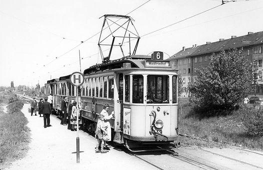 Das Bild vom 449 entstand 1952 in der Ungererstraße, Foto: Robert Wasche tram München