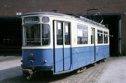 münchen tram Bahnhofswagen  Typ: M 4.65 Betriebsnummer 2984