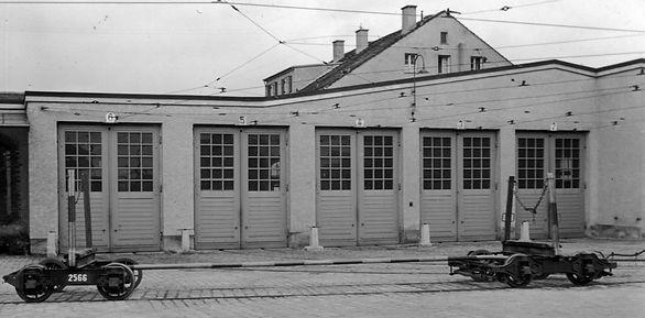 Transportwagen / Mastentransportschemmel  Typ: q 12. Betriebsnummer: 2566 münchen tram