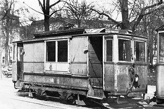 Arbetswagen Nr. 49 1950 am Ostbahnhof münchen tram