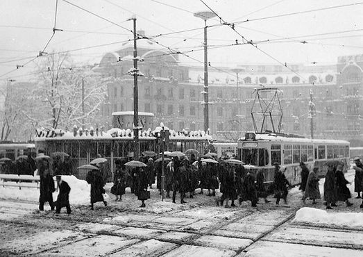 Karlsplatz Stachus 1959 im Winter