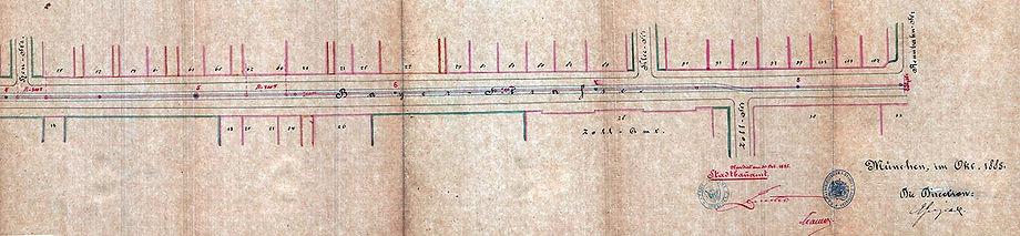 1885 Oktober Planung Trambahn Hauptbahnh