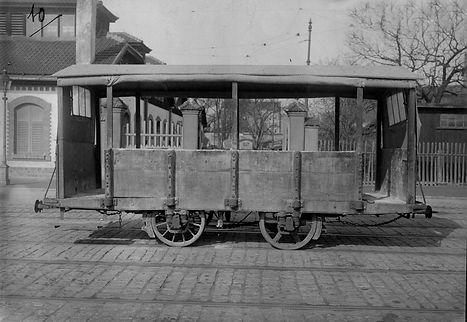 Transportwagen/Niederbord  Typ: q 1.41 Nr. 22 Baujahr 1883 münchen tram