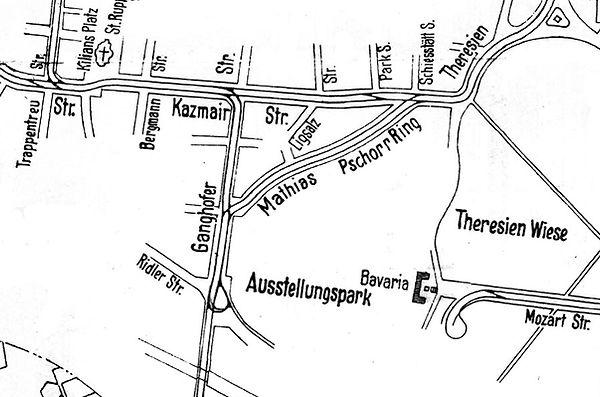 1924-07-04 Streckenplan Versuchsfahrt Au