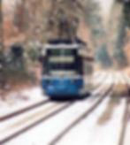 TW 2114 an einem kalten Wintertag auf dem Weg nach Grünwald tram münchen