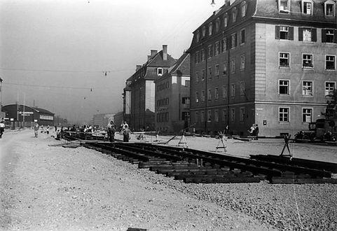 1934 Arnulfstrasse baustelle Trambahn DE