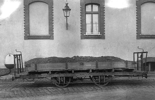 Transportwagen/Niederbord  Typ: q 2.52 Nr. 864 im Jahr 1925 tram münchen