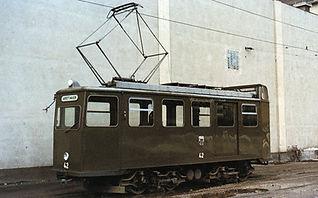 münchen tram Fahrdrahtkontrollwagen  Typ: Ka 1.8 Betriebsnummer: 42 in grüner Lackierung