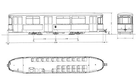 Lenkdreiachs-Beiwagen  Typ: m 4.65 bauskizze münchen tram